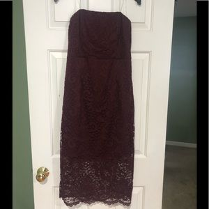 Lulus Strapless Lace Dress